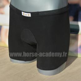 Boxer short designed for riders - black